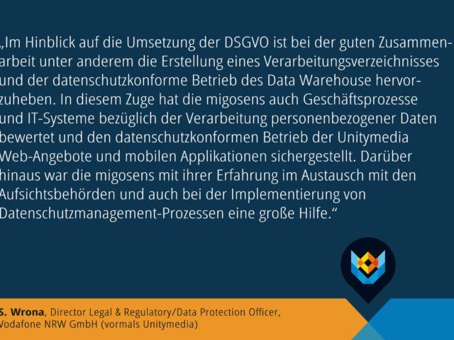 Projekt zur Umsetzung der Datenschutzgrundverordnung bei einem Telekommunikationsdienstleister